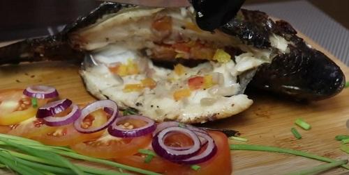 Stuffed Fried Tilapia