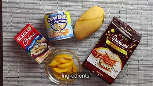 Mango Graham cake ingredients