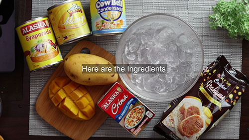 Mango graham shake ingredients
