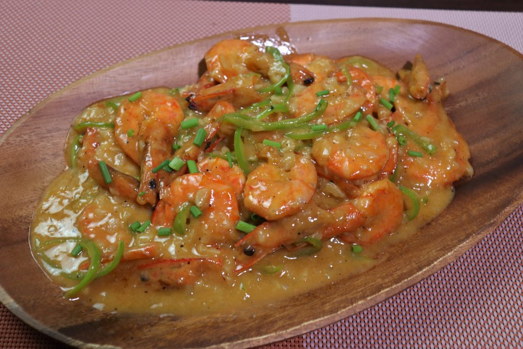 Garlic cheesy shrimp