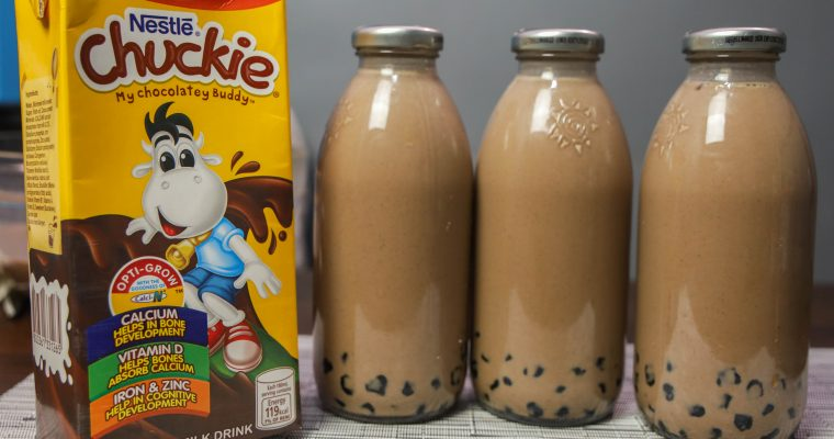 Chuckie with Tapioca Pearl Drink – Chocolate Drink