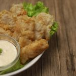 fish fillet with garlic sauce
