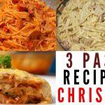 3 pasta recipe