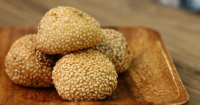 Home Made Buchi (Sesame Balls) with Red Bean Paste Filling – Taste like Chowking
