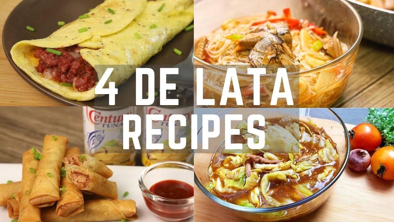 4 De Lata Recipes ( Lockdown Recipes ) – Easy and Budget Friendly Recipes