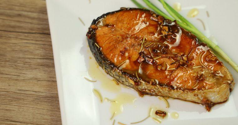 Honey Garlic Butter Salmon Steak – Salmon Recipes ( Fish Recipes )