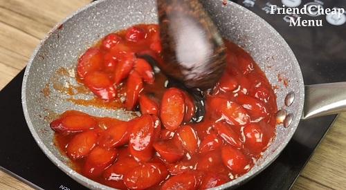 Stir fry hotdog
