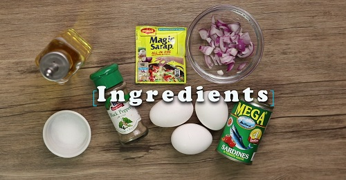 Sardines omellete recipe