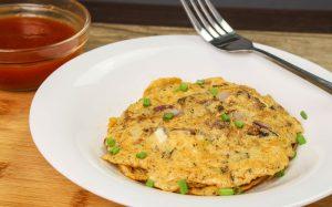 Sardines omelette