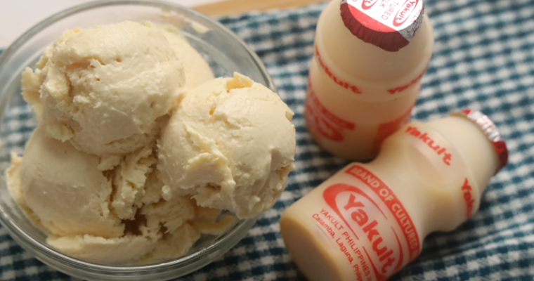 Yakult Ice Cream Recipe – Two Ingredient Ice Cream