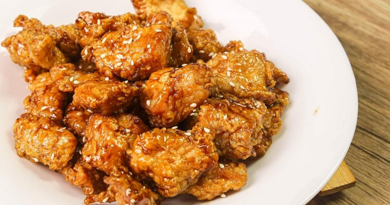 Sweet Soy Garlic Chicken Popcorn (Chicken Poppers)
