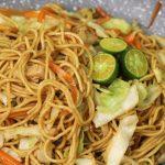 Chicken stir fry egg noodles