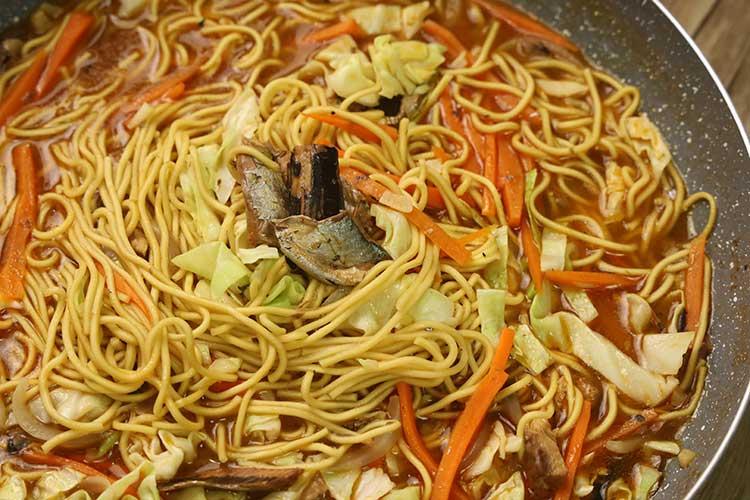 homemade egg noodles recipe with sardines