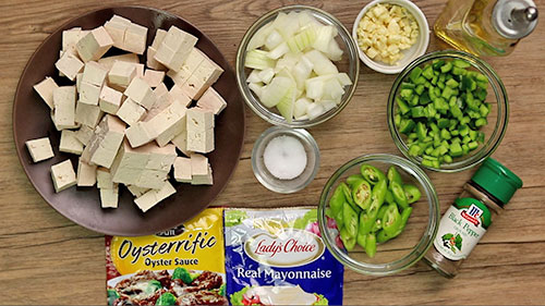 tofu sisig ingredients