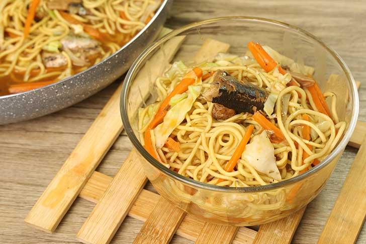 homemade egg noodles recipe with sardines 2
