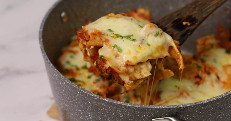 No Bake Lasagna In a Pot (Without Oven)